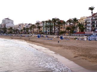 Playa de La Fragata en Sitges