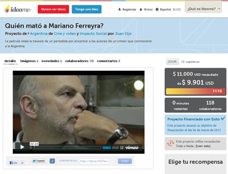 imagen miniatura de la película quién mató a Mariano Ferreyra
